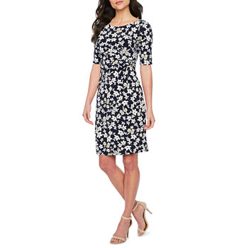 10c70b71c023b Jessica Howard Sleeveless Floral Shift Dress. Add To Cart. New. Navy Yellow