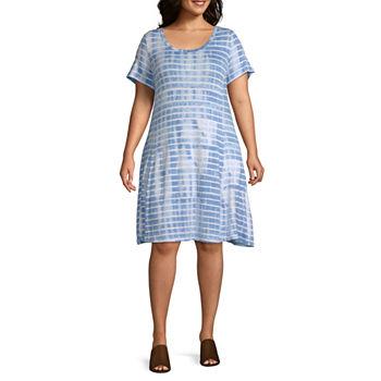 6b80731cee4 Plus Size Shift Dresses Dresses for Women - JCPenney
