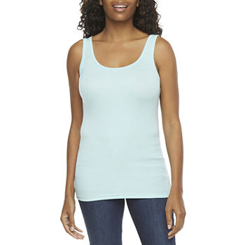 a.n.a Tall Womens Scoop Neck Sleeveless Tank Top