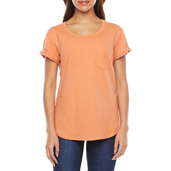 a.n.a Womens Tall Round Neck Short Sleeve T-Shirt