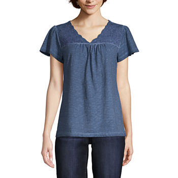 051432c7 Short Sleeve T-shirts Tops for Women - JCPenney