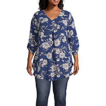 6d45f908288 Plus Size Tunic Tops for Women - JCPenney