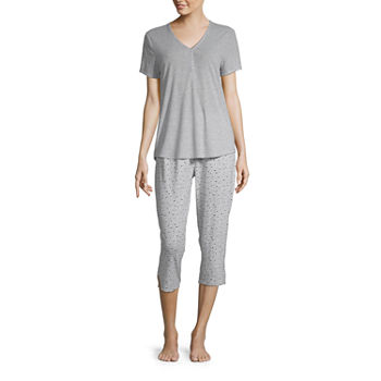a444ecea11748 Capri Pajama Sets Gray Closeouts for Clearance - JCPenney
