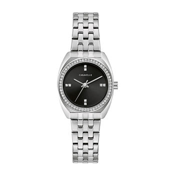 Caravelle Designed By Bulova Womens Silver Tone Stainless Steel Bracelet Watch - 43l219