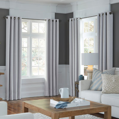 jcpenney home textured blackout grommettop unlined curtain panel