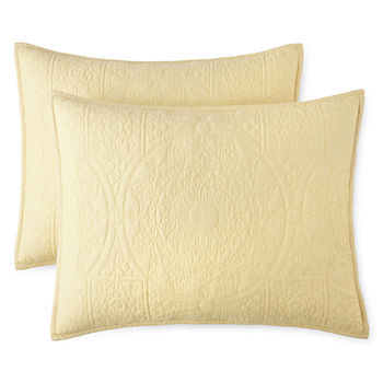 Yellow Decorative Pillows Shams For Bed Bath Jcpenney