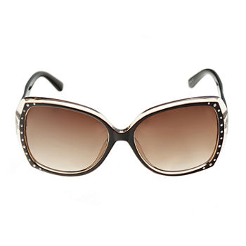 Mixit Plastic Square With Stones Womens Sunglasses