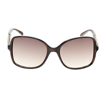Mixit Plastic Square With Stones On Temples Womens Sunglasses