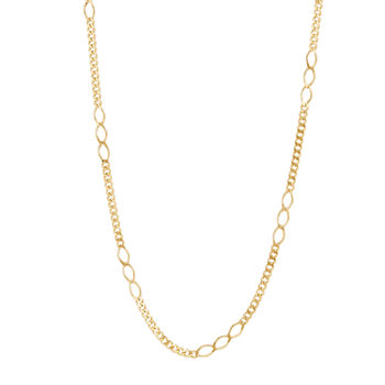 14K Gold 18 Inch Cable Chain Necklace