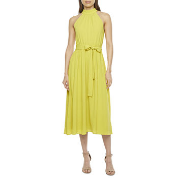 Worthington Sleeveless Midi A-Line Dress