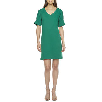 Worthington Short Sleeve Shift Dress