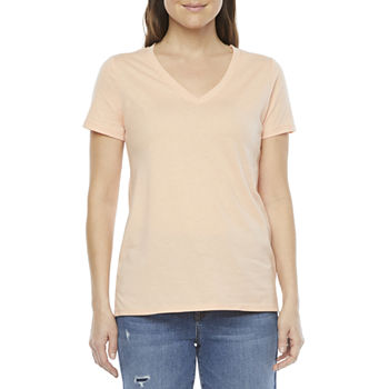 a.n.a Tall Womens Short Sleeve V-Neck T-Shirt