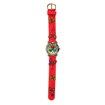 Olivia Pratt Kids Pink Butterfly Strap Watch-17175