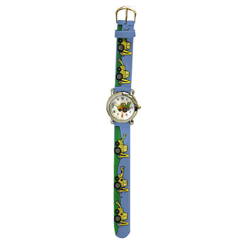Olivia Pratt Tractor Boys Blue Strap Watch-17186