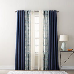 JCPenney Home Quinn, Batiste Paisley, & Batiste Solid Sheer Grommet-Top Curtain Panels