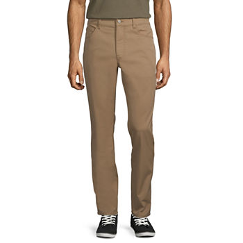 St. John's Bay Men's Temp Flex 5-Pocket Slim Fit Pant