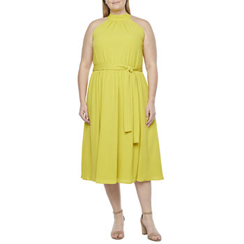 Worthington Womens Halter Dress - Plus