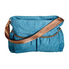 Trend Lab® Crinkle Tote Diaper Bag-Blue