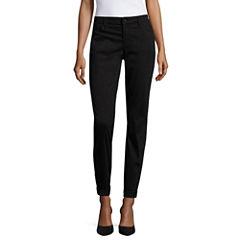 Liz Claiborne® City-Fit Skinny Boyfriend Ankle Pants