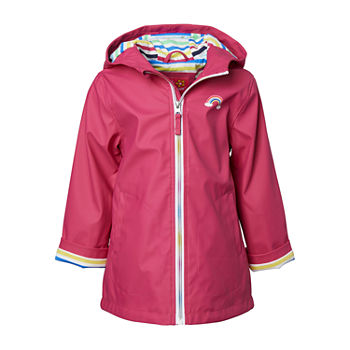 Pink Platinum Toddler Girls Water Resistant Lightweight Raincoat