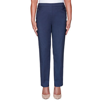 Alfred Dunner Classics Womens Slim Pull-On Pants