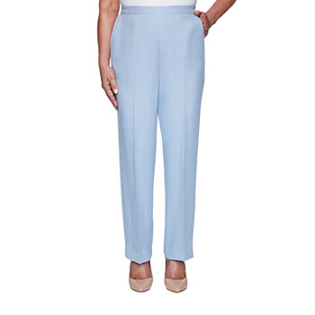 Alfred Dunner French Bistro Womens Straight Pull-On Pants