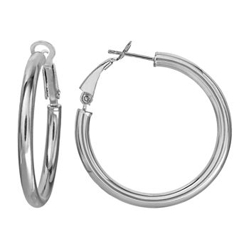Sterling Silver 31.6mm Hoop Earrings
