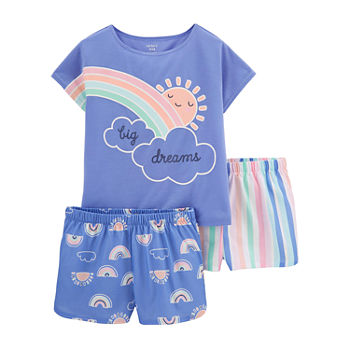 Carter's Little & Big Girls 3-pc. Shorts Pajama Set
