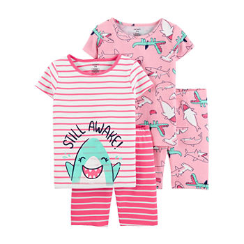 Carter's Little & Big Girls 4-pc. Shorts Pajama Set