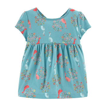 Carter's Toddler Girls Round Neck Short Sleeve Peplum Top
