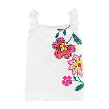 Carter's Toddler Girls Square Neck Tank Top
