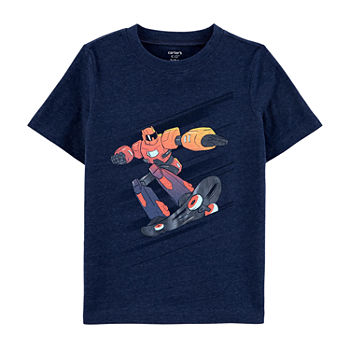 Carter's Little & Big Boys Round Neck Short Sleeve Graphic T-Shirt