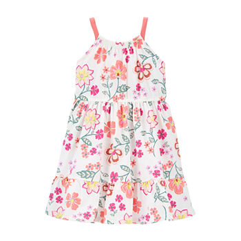 Carter's Toddler Girls Sleeveless Floral A-Line Dress