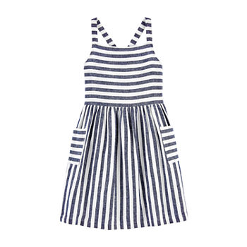Carter's Little & Big Girls Sleeveless Striped A-Line Dress