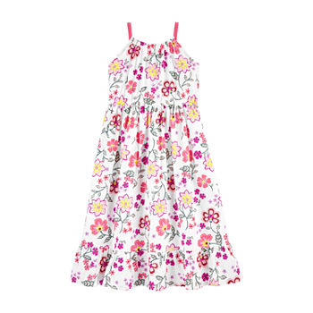 Carter's Little & Big Girls Sleeveless Floral A-Line Dress