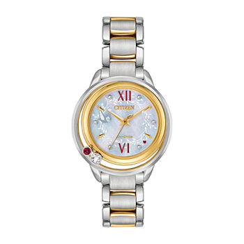 Citizen Disney Snow White Womens Two Tone Stainless Steel Bracelet Watch - Ew5564-54d