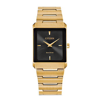 Citizen Stiletto Mens Gold Tone Stainless Steel Bracelet Watch - Ar3102-51e