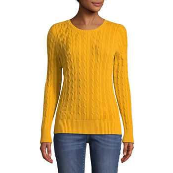 ad99256dc42 Casual Yellow Sweaters   Cardigans for Women - JCPenney