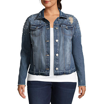 cd77262abfc06 Plus Size Denim Coats   Jackets for Women - JCPenney