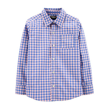 368731377 Boys Button-front Shirts Shirts & Tees for Kids - JCPenney