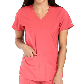 Med Couture Womens 8579 Racerback Shirttail V-Neck Scrub Top - Plus