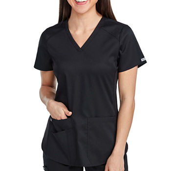 Med Couture Womens 7459 V-Neck Shirttail Scrub Top - Plus