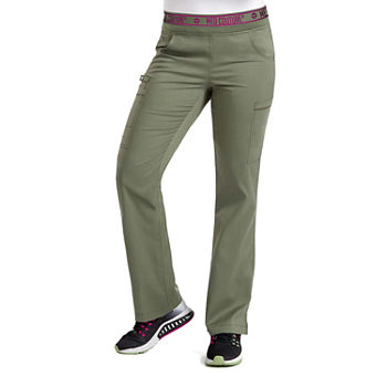 Med Couture Womens 7739 Yoga 2 Cargo Scrub Pants - Plus