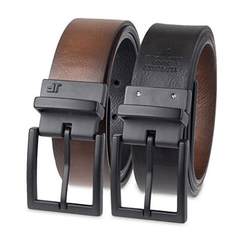 JF J.Ferrar® Reversible Men's Belt with Metal Keeper