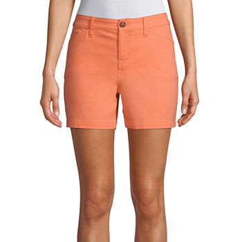 "St. John's Bay Womens Mid Rise 5"" Chino Short"