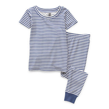 Jaclyn Magazine Stripe Family Sleep Toddler Unisex 2-pc. Pajama Set