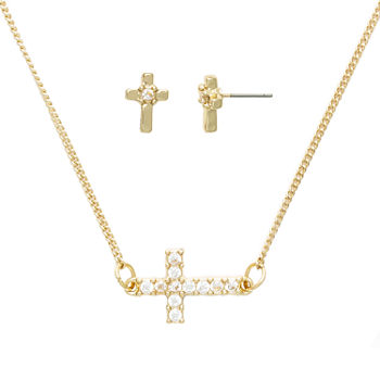Mixit Religious Jewelry Hypoallergenic 2-pc. Cross Jewelry Set