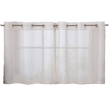 Solid Grommet Kitchen Bath Curtains