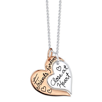 Footnotes Friend Sterling Silver Heart Pendant Necklace