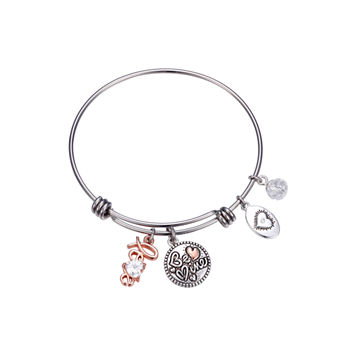 Footnotes Love Bangle Bracelet